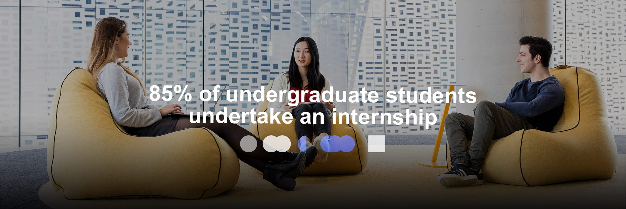 85% of undergraduate students undertake an internship